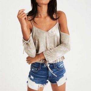 AMERICAN EAGLE   AEO Soft & Sexy Cold Shoulder Top